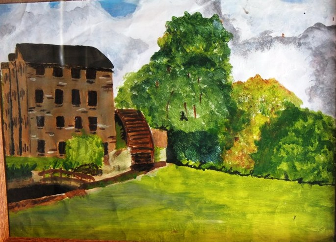 Art work from project on Bealick Mill, Macroom, Co. Cork; Discover Cork: Schools' Heritage Project 2013