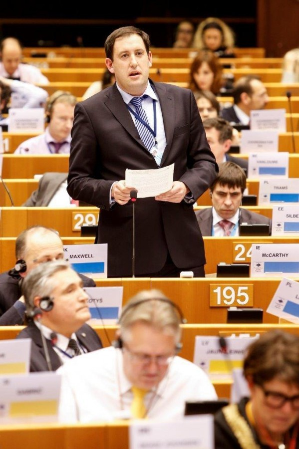 Cllr Kieran McCarthy, Committee of the Regions, European Parliament, February 2015