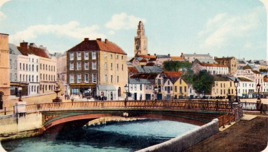 North Gate Bridge and St Ann's Church,  c.1900