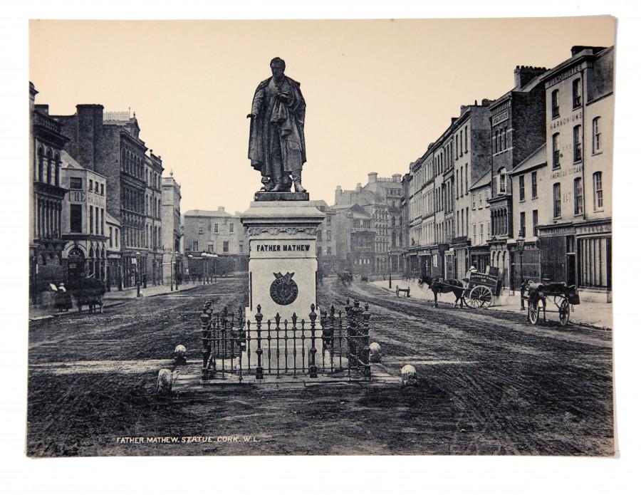Fr Matthew Statue, St Patrick's Street, c.1900 (source: Cork City Through Time by Kieran McCarthy and Dan Breen)