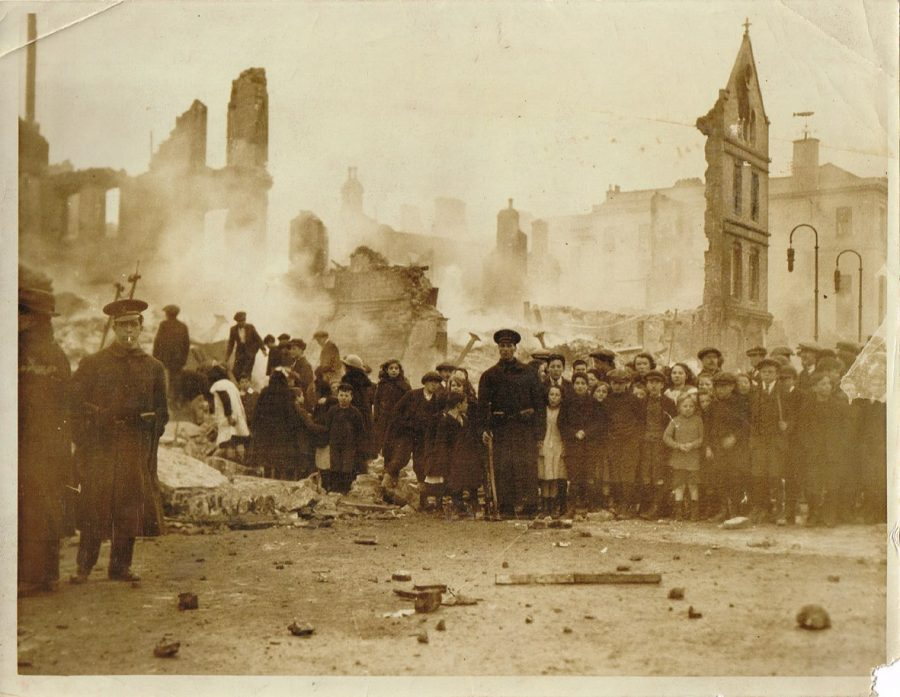 St Patrick's Street, Cork, post Burning of Cork 1920 (source: Cork City Library)