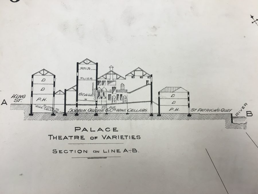 Goad's Cross Sectional Drawing of the Palace of Varieties, 1897  (source: Cork City Library)
