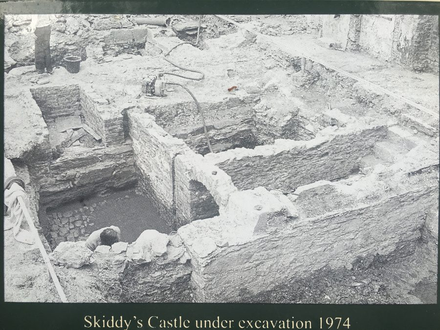 Skiddy's Castle, North Main Street, Cork, during excavation 1974 (picture: Kieran McCarthy)