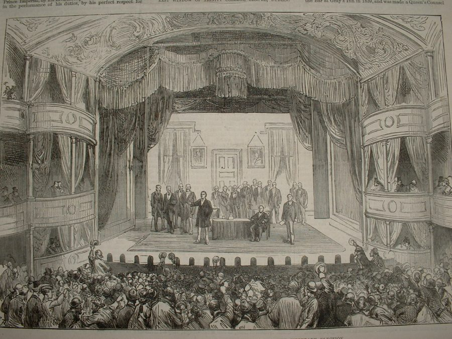 Cork Theatre Royal from Illustrated London News 1875 (source: Cork City Library)