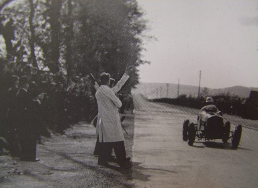 Motor Car Racing on the Carrigrohane Straight Road, 14 May 1936 (source: Cork City Library)
