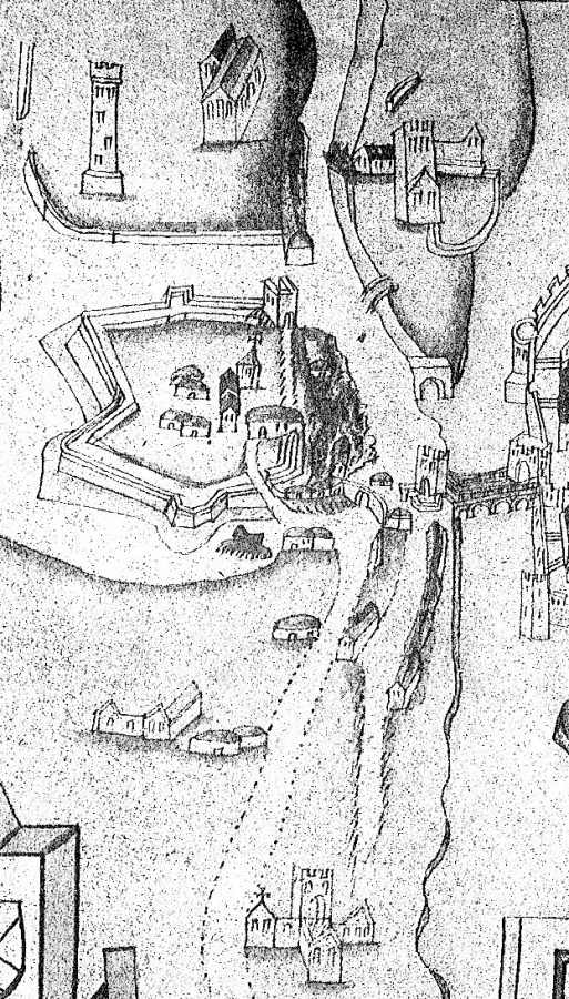 Elizabeth Fort, c.1601 by George Carew (source: Cork City Library)