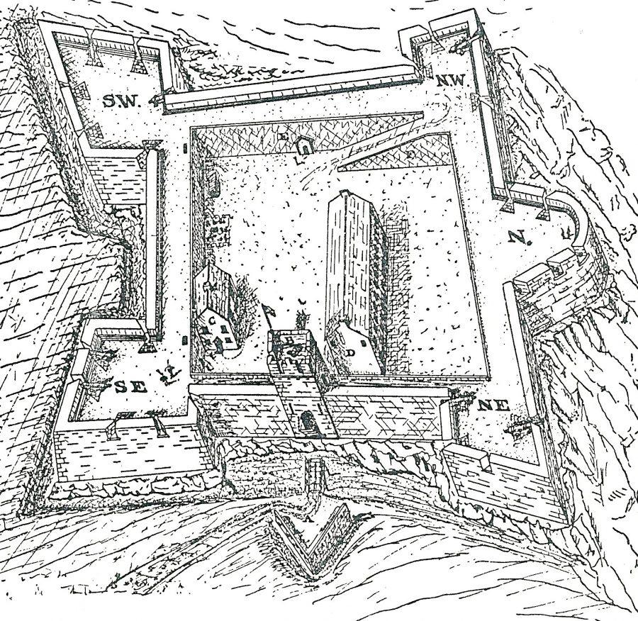 Elizabeth Fort, c.1650 (source: Cork city Library)