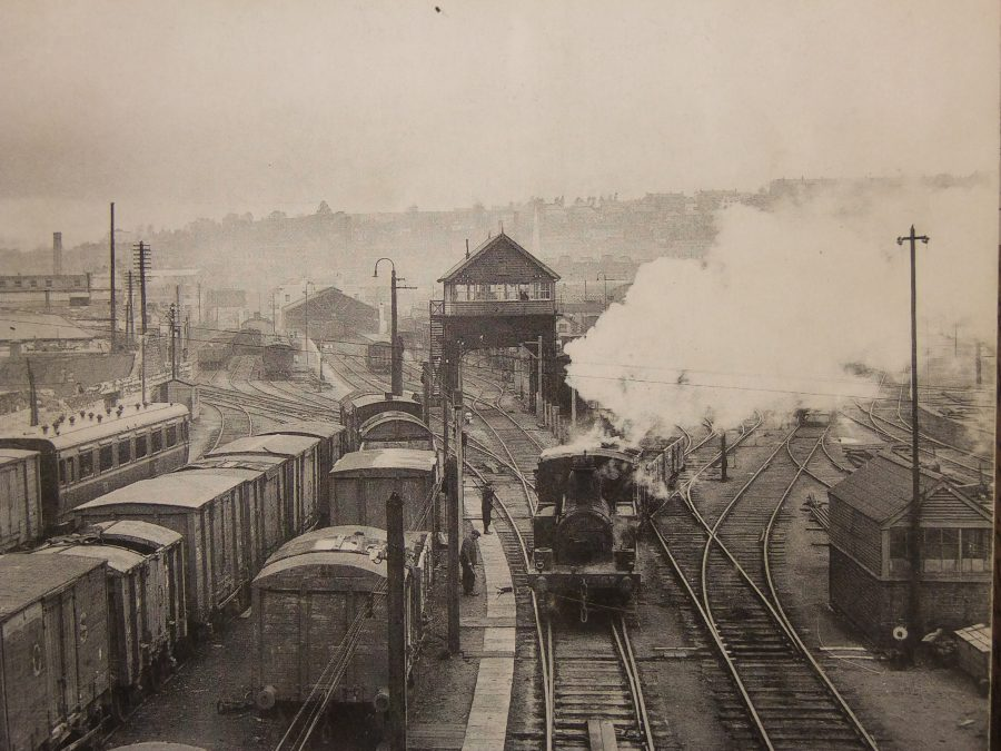 Former railway yards of Cork-Bandon Terminus Cork, c.1920 source: Cork City Library)