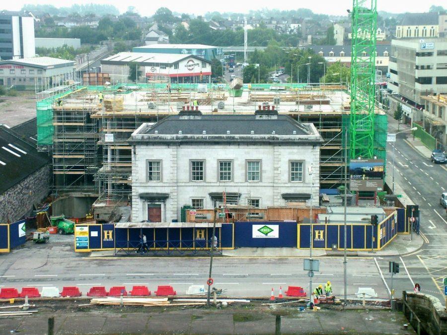 Cork-Bandon Railway Terminus from Clayton Hotel Penthouse, Cork, 2006 (picture: Kieran McCarthy)