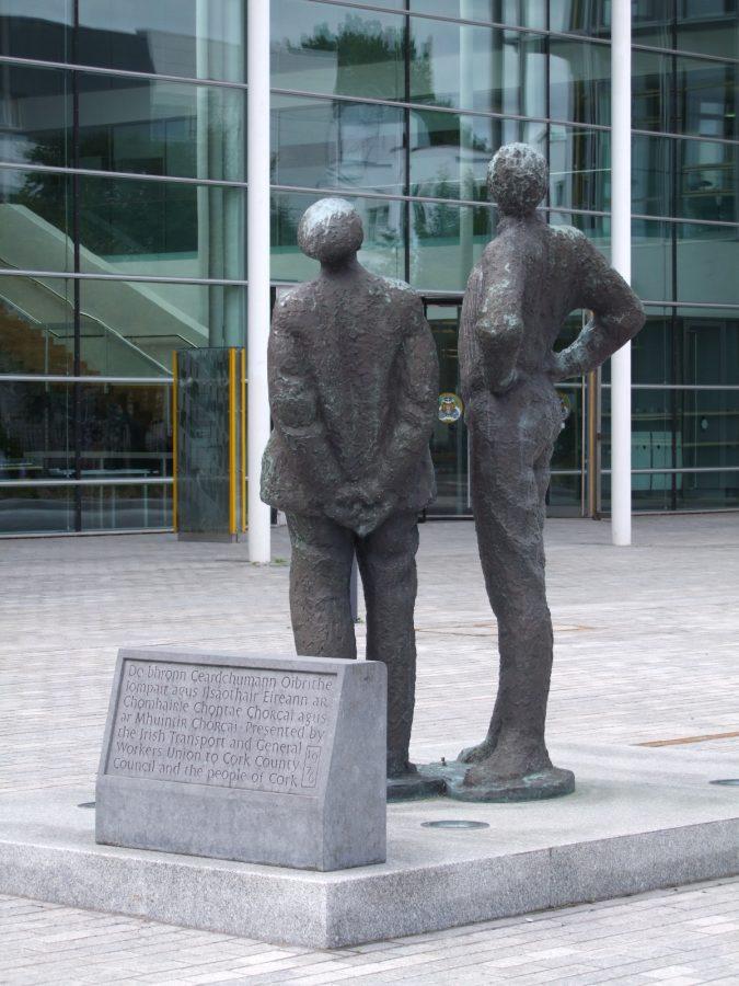 Statues by Oisin Kelly Cork County Hall (picture: Kieran McCarthy)