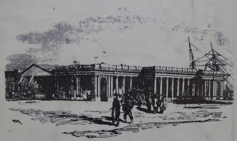Cork's Cork-Dublin Railway Terminus, 1860 (source: Dublin Builder, 1860)