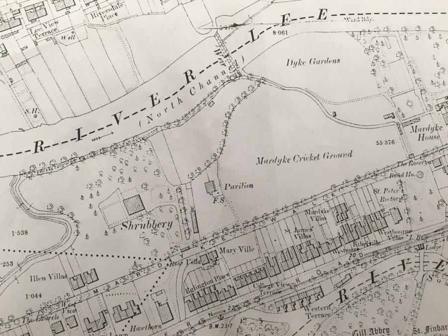 Map of Fitzgerald's Park, Cork c.1910 (source: Kieran McCarthy)