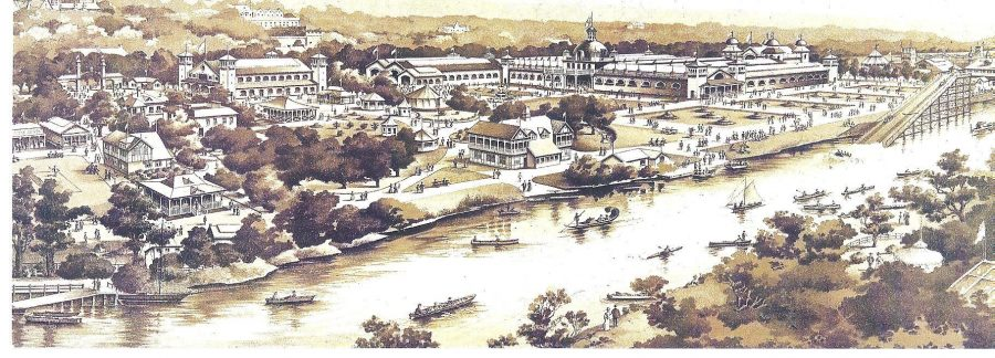 Sketch of Cork International Exhibition, 1903 (source: Cork City Through Time by Kieran McCarthy & Dan Breen)