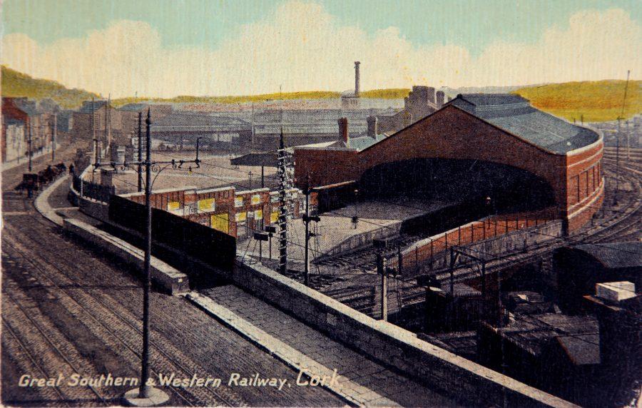 Great Southern and Western Railway Terminus, Cork AKA Kent Station,  (source: Cork City Through Time by Kieran McCarthy & Dan Breen).