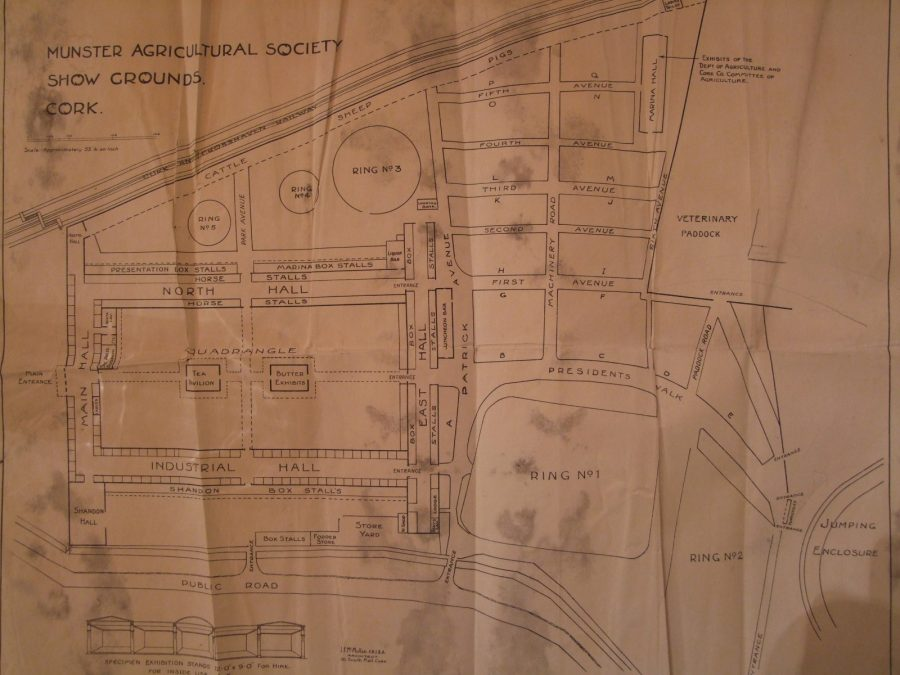 Plan of Cork Showgrounds, c.1900 (source: Munster Agricultural Society)