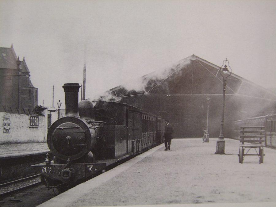 Train at Cork Blackrock and Passage Railway Station, Albert Road (source: Cllr Kieran McCarthy)