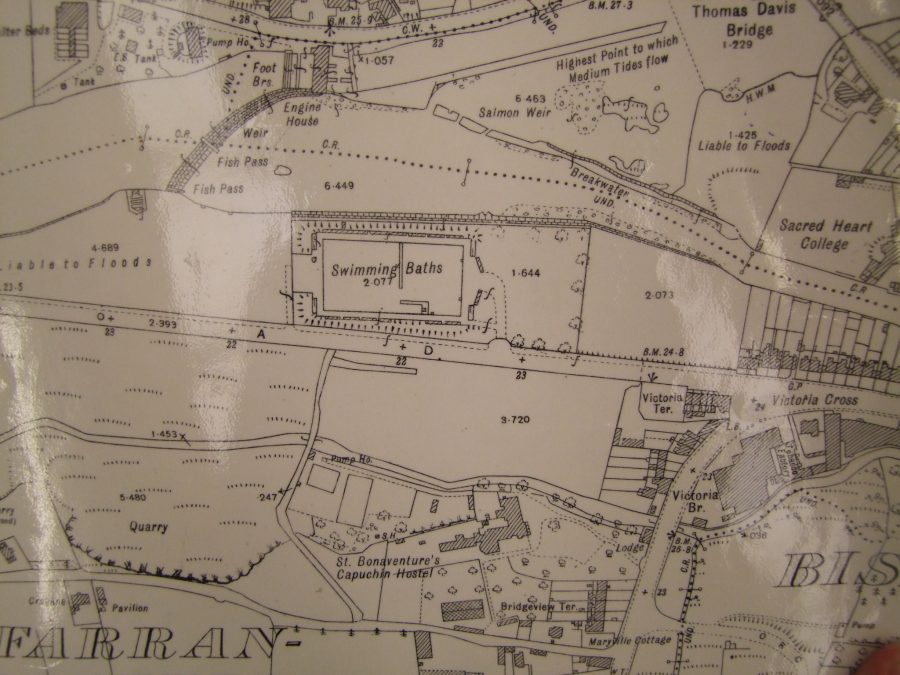Section of 1948 OS Map of Lee Fields, Cork (source: Cork City Library)
