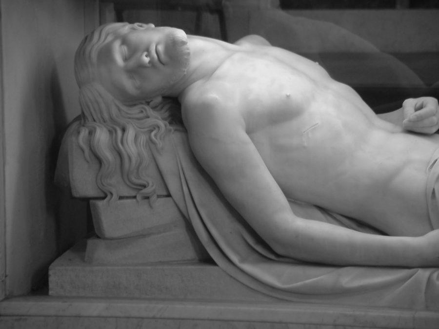 The Dead Christ by John Hogan, beneath altar of South Chapel, Cork, present day (Cllr Kieran McCarthy)
