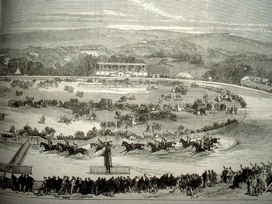 City Park Races, 1870 from Illustrated London News (source: Cork City Library)