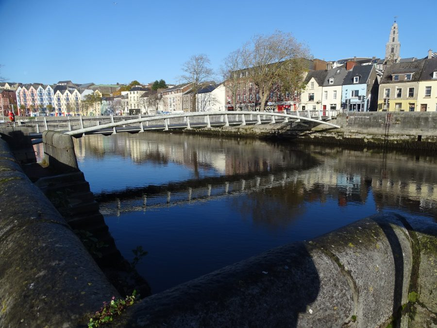 Shandon Bridge and North Channel of the River Lee, early November 2020 (Cllr Kieran McCarthy)