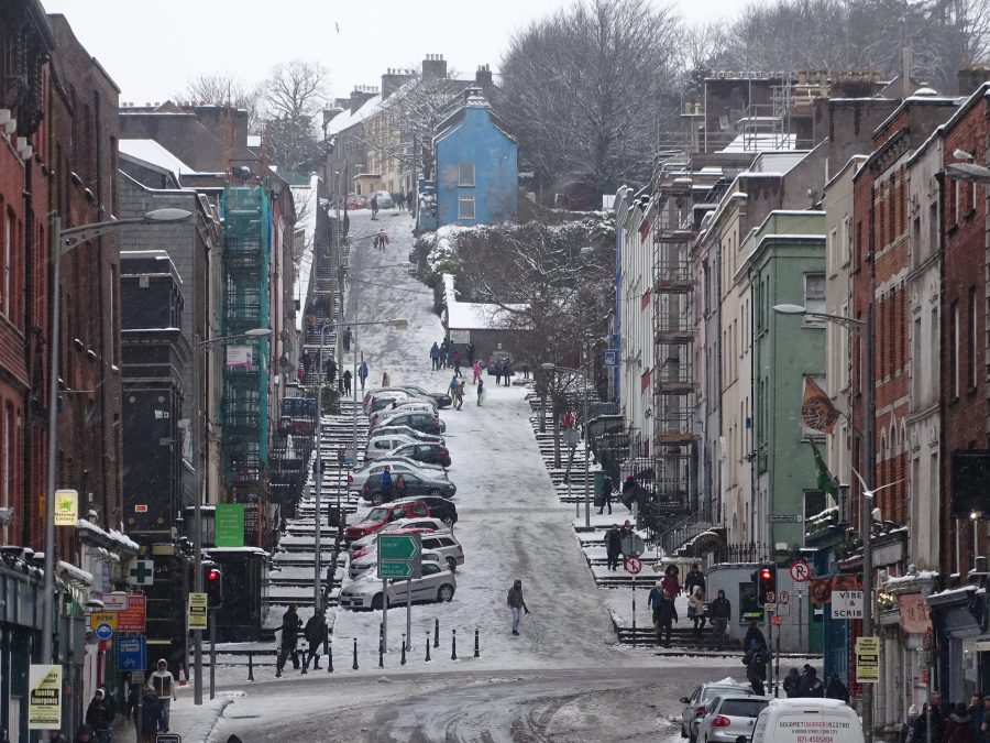 Snow on St Patrick's Hill, 2018 (picture: Kieran McCarthy)
