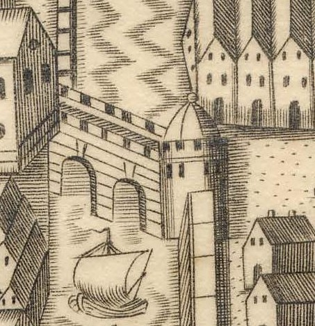 Paradise Place and Roches Castle Map of Cork, late sixteenth century as depicted in Sir George Carew's Pacata Hibernia (source: Cork City Library)