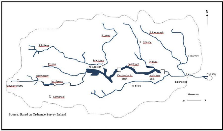 River Lee Valley Map by Kieran McCarthy