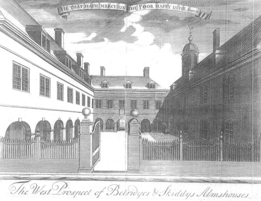 Skiddy's Almshouse, 1715 (source: Cork City Library)