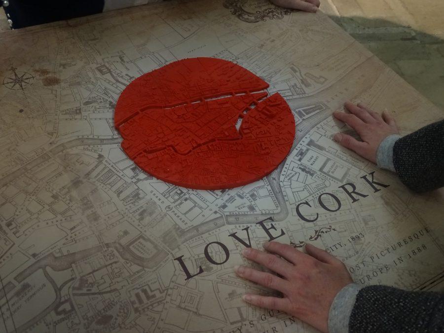 Love Cork logo at St Peter's Church, North Main Street, Cork (picture: Cllr Kieran McCarthy)