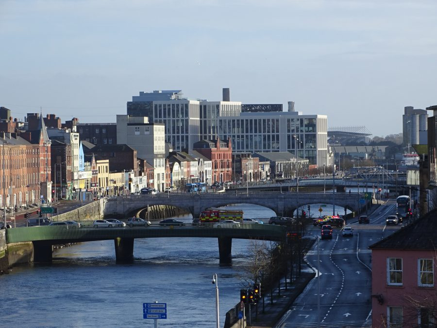 North Channel of the Lee -  View from Kyrl's Quay Multi-Storey Car Park, Cork, present day (picture: Kieran McCarthy)