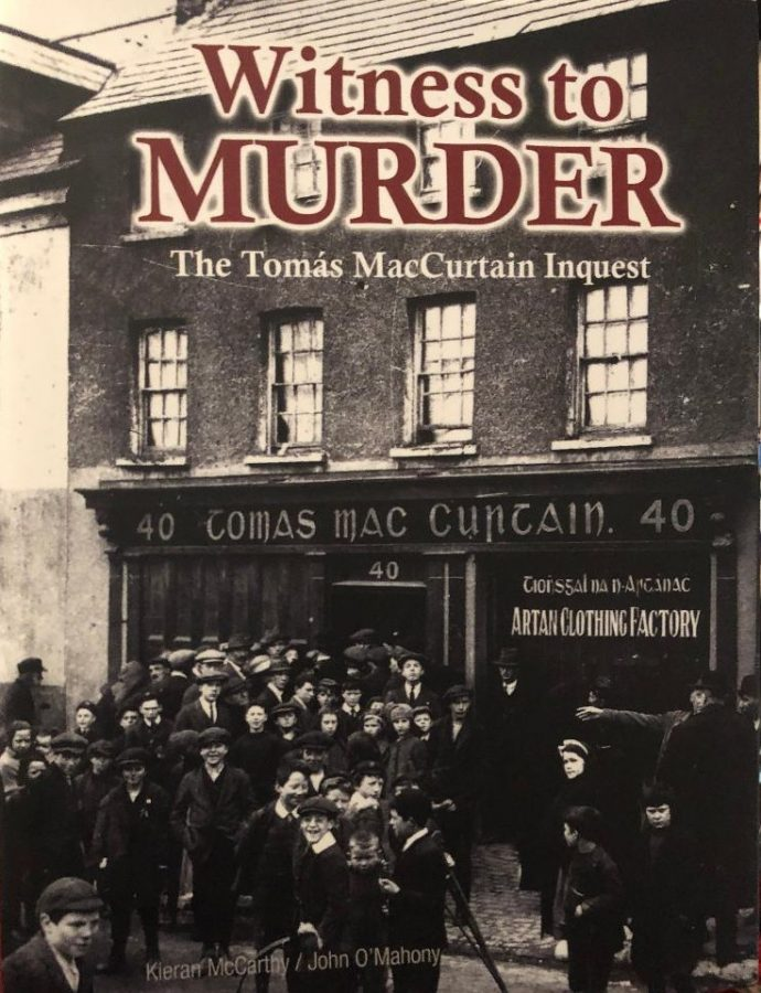Cover of Witness to Murder, Tomás MacCurtain by Kieran McCarthy and John O'Mahony