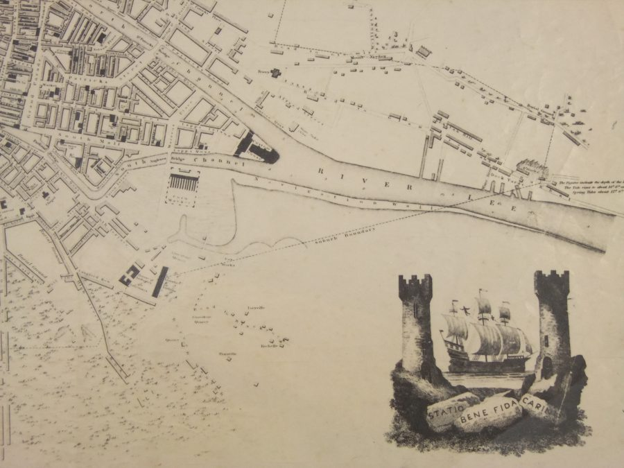 Map of Cork South Docks, 1832 (source: Cork City Library)