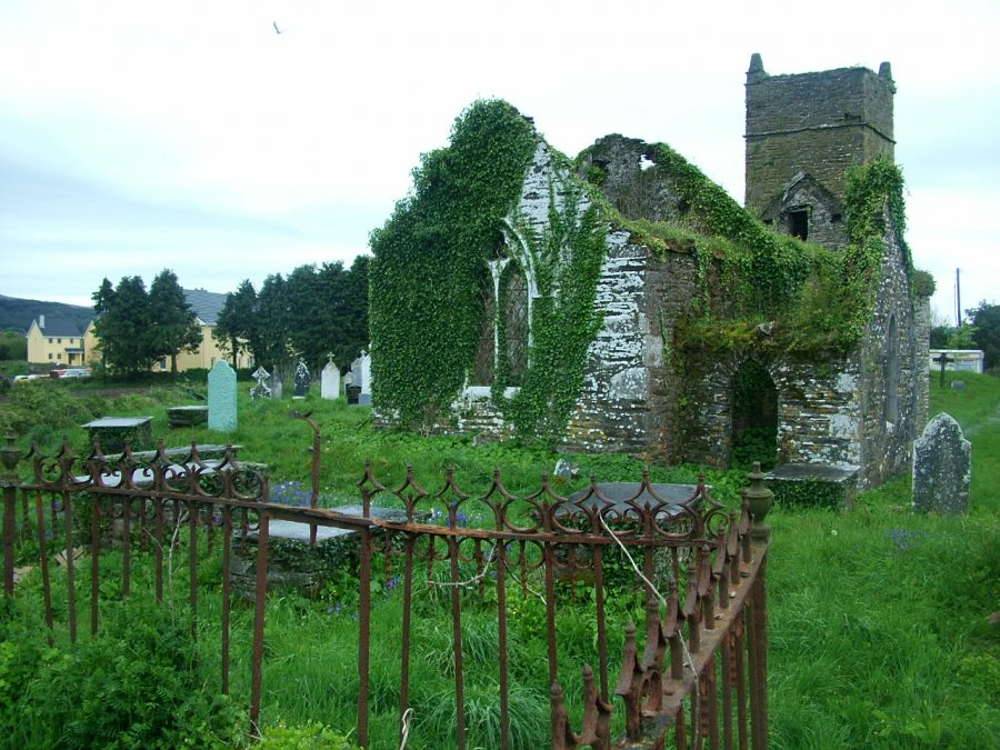 Ruined Church of Ireland, Ballingeary, present day (picture: Kieran McCarthy)