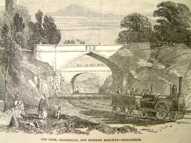 Testing on Cork, Blackrock and Passage Railway Line from Illustrated London News, 25 May 1850 (source: Cork City Library)