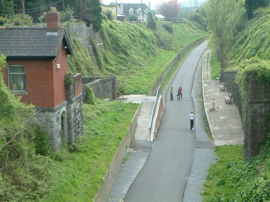 Former Cork-Blackrock Railway Line and former Blackrock Platform, now an amenity walk, present day (picture: Kieran McCarthy)