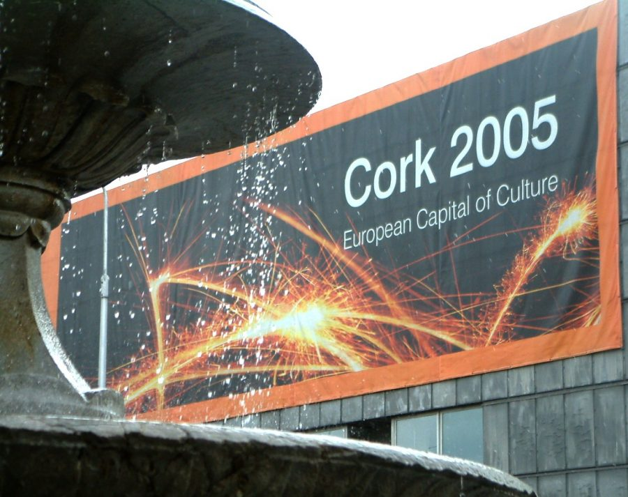 European Capital of Culture 2005 banner on Cork City Library (picture: Kieran McCarthy)