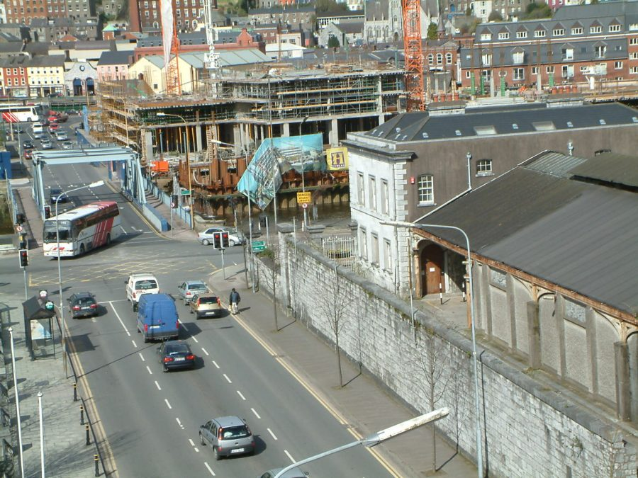 Former City Terminus and platform buildings for Cork Bandon Railway on the right, 2005 (picture: Kieran McCarthy)