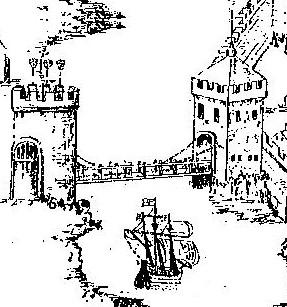 South Gate Bridge, c.1600 by George Carew (source: Kieran McCarthy)