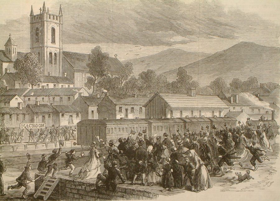 Opening of Cork-Macroom line, from Illustrated London News, 26 May 1866