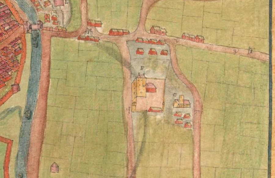 Shandon Castle from A description of the Cittie of Cork/ Plan of Cork, circa 1602 by George Carew (source: Hardiman Atlas, Library of Trinity College Dublin)
