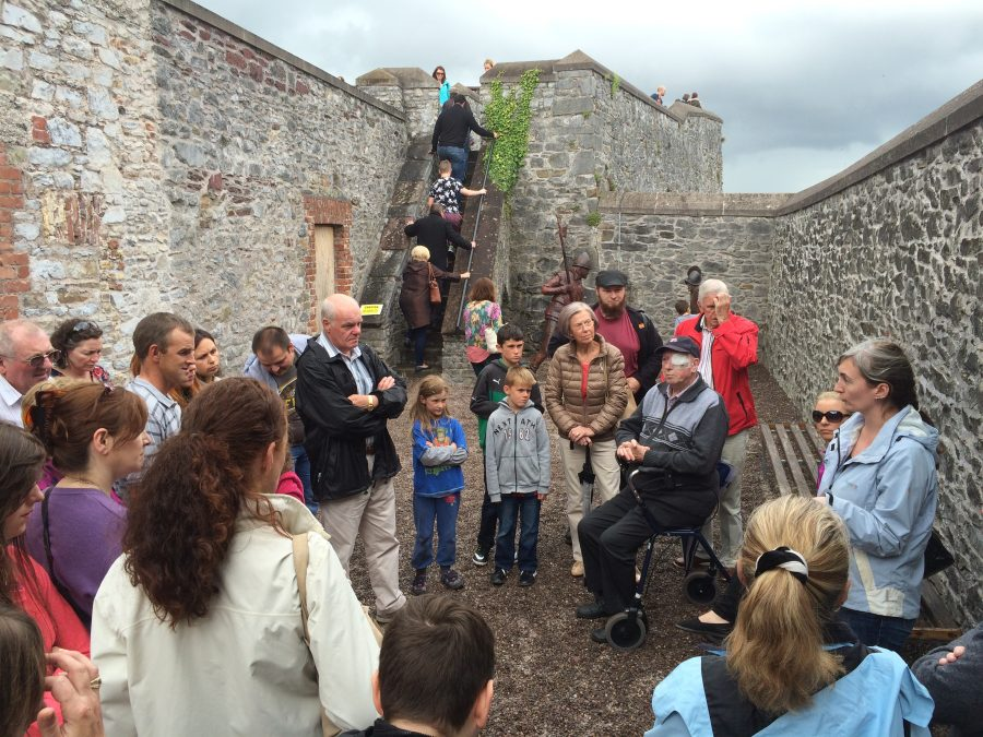 A walking tour getting underway at Elizabeth Fort during a recent Cork Heritage Open Day (picture: Kieran McCarthy)