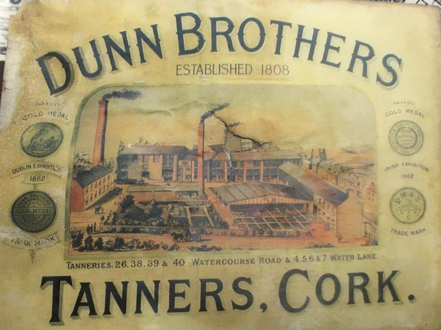 Advertisement for Dunn's Tannery, Watercourse Road, late nineteenth century (source: Cork City Library)