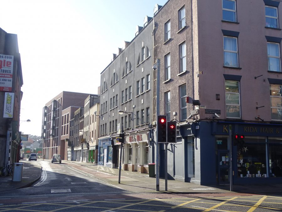 Part of South Main Street by Washington Street, Cork, present day (picture: Kieran McCarthy)