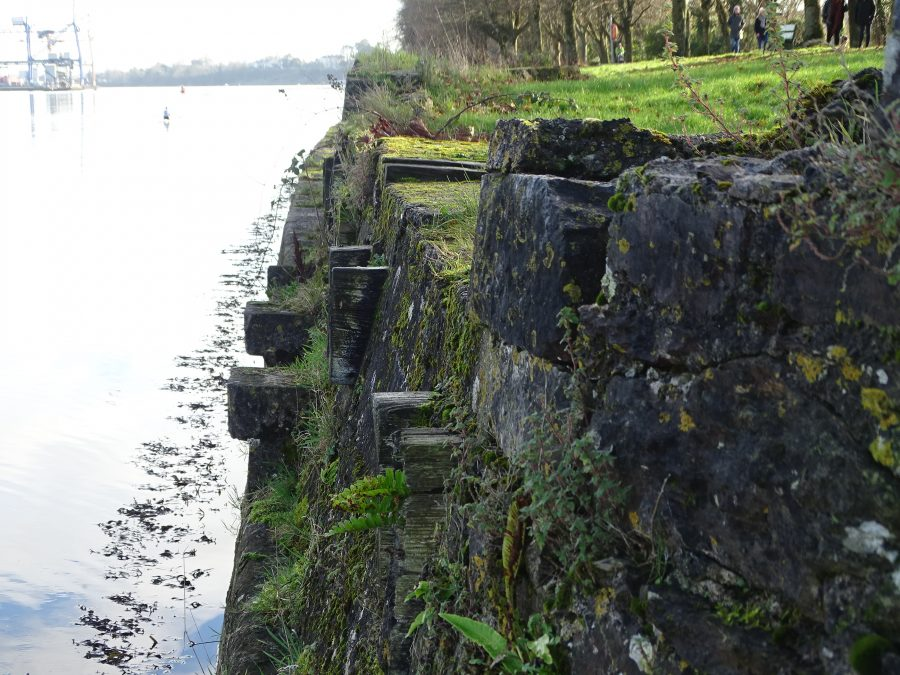 Ruins of Gunpowder Pier, The Marina, Cork, present day (picture: Kieran McCarthy)