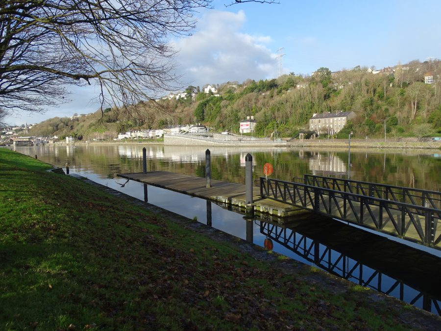 Pontoon for Lee Rowing Club, The Marina, Cork, present day (picture: Kieran McCarthy)