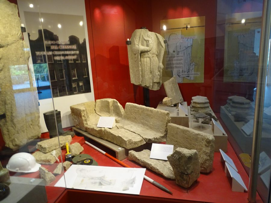 Exhibit of Dominican Abbey finds from Crosses Green, Cork, present day (picture: Kieran McCarthy)