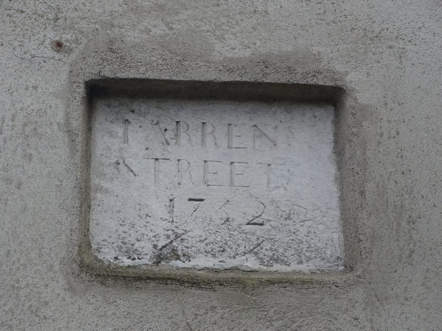 Cork's Oldest Street Plaque from 1732, Farren Street off Gerald Griffin Street, one of the oldest laneways surviving in Blackpool, present day picture (picture: Kieran McCarthy)