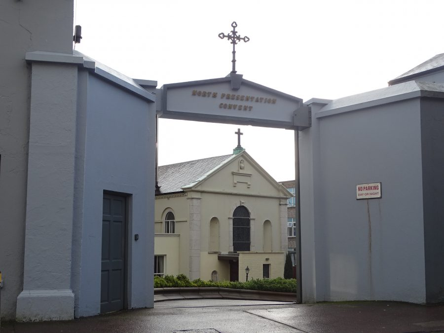 Entrance to Presentation Sisters' Convent Chapel, Gerald Griffin Street, present day (picture: Kieran McCarthy)