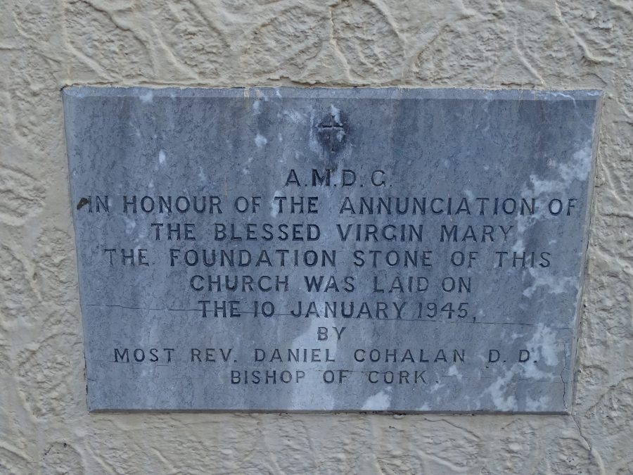 Foundation stone, Church of the Annunciation, Blackpool, present day (picture: Kieran McCarthy)