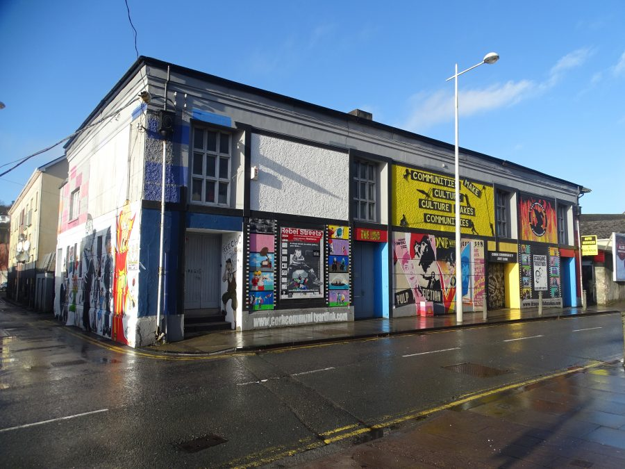 Former Lido Cinema site, now home to Cork Community Arty Link (picture: Kieran McCarthy)